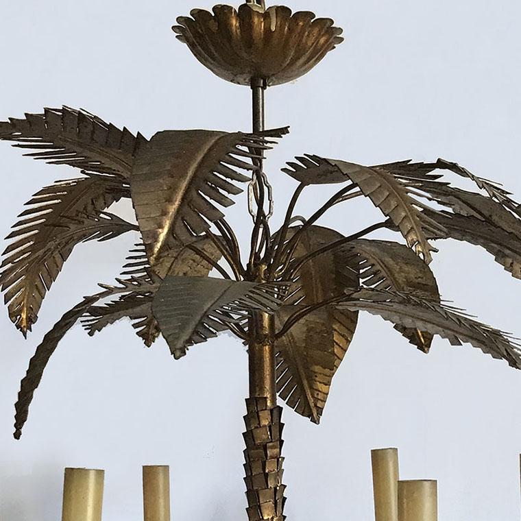 Gilt Palm Tree Chandelier, c.1930